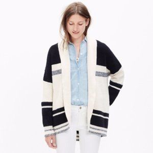 Madewell Striped Cocoon Cardigan Sweater